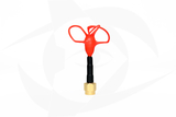Omnivision - 5.8GHz 3 Lobe Stubby SMA Antenna - LHCP Red