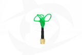 Omnivision - 5.8GHz 3 Lobe Stubby SMA Antenna - LHCP Green