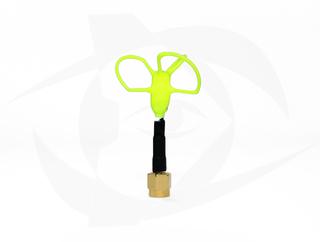Omnivision - 5.8GHz 3 Lobe Stubby SMA Antenna - LHCP Yellow