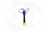 Omnivision - 5.8GHz 3 Lobe Stubby SMA Antenna - RHCP Purple