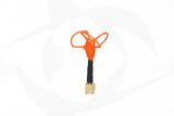 Omnivision - 5.8GHz 3 Lobe Stubby SMA Antenna - RHCP Orange