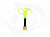 Omnivision - 5.8GHz 3 Lobe Stubby SMA Antenna - RHCP Yellow