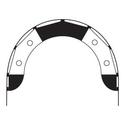 Premier RC - 5 x 3' Arch Gate - Black & White