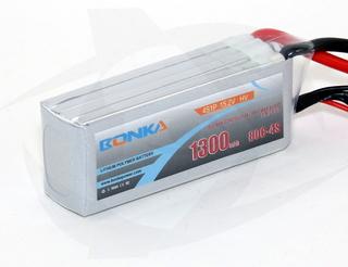Bonka 1300mAh 4S HV 80C Lipo - XT60 15.2v (19.24Wh)