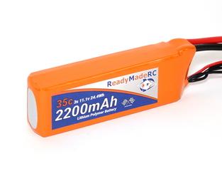 RMRC Orange Series - 2200mAh 3S 35C Lipo - T Connector (24.4Wh)