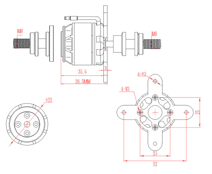 EMAX GT281205 1840KV EMXMT0419 1925 Ready Made RC LLC – Lighting Wiring Diagram Emax 35a