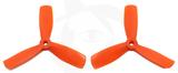 Gemfan Nylon+Glass Fill Propeller -4 x 4.5 x 3 Orange (Bullnose)