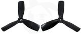 Gemfan Nylon+Glass Fill Propeller - 4 x 4.5 x 3 Black (Bullnose)