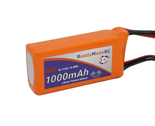 RMRC Orange Series - 1000mAh 4S 60C Lipo - T Connector (14.8Wh)