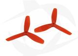 Gemfan Nylon+Glass Fill Propeller - 5 x 5 x 3 Orange (Bullnose)