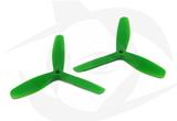 Gemfan Nylon+Glass Fill Propeller - 5 x 5 x 3 Green (Bullnose)