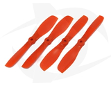 Gemfan Nylon+Glass Fill Propeller - 5.5 x 5 Orange (Bullnose)