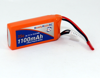 RMRC Orange Series - 1100mAh 3S 35C Lipo - JST (12.21Wh)