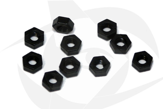 RMRC - M3 Black Nylon Nut - (10pc)