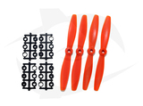 Gemfan Nylon+Glass Fill Propeller - 6 x 4 Orange (Bullnose)
