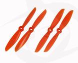 Gemfan Glass Fill Propeller - 6 x 4.5 (4PCS, CW & CCW) ORANGE
