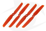 Gemfan Glass Fill Propeller - 6 x 3 (4PCS, CW & CCW) ORANGE