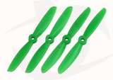 Gemfan Glass Fill Propeller - 5 x 4.5 (4PCS, CW & CCW) GREEN