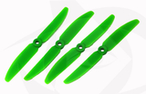 Gemfan Glass Fill Propeller - 5 x 3 (4PCS, CW & CCW) GREEN