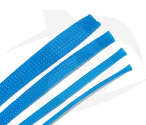 RMRC - Braided Mesh - 16mm Bright Blue - 1m Section