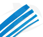 RMRC - Braided Mesh - 3mm Bright Blue - 1m Section