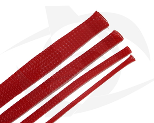 RMRC - Braided Mesh - 16mm Red - 1m Section