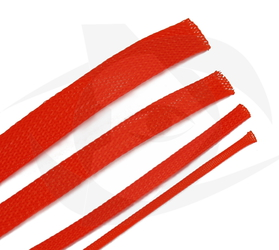 RMRC - Braided Mesh - 10mm Bright Orange - 1m Section