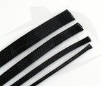 RMRC - Braided Mesh - 16mm Black - 1m Section