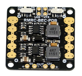 RMRC - Mini Power Distribution Board - 5V & 12V BEC + Switches