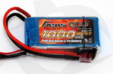 Gens Ace 1000mAh 3S 25C Lipo Pack - T-Connector (Wh 11.1)