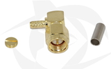SMA Male Connector - Crimp Style (Right Angle)