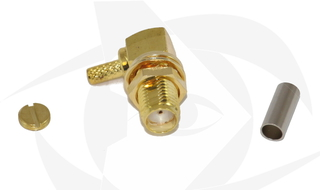 SMA Female Connector - Crimp Style (Right Angle)