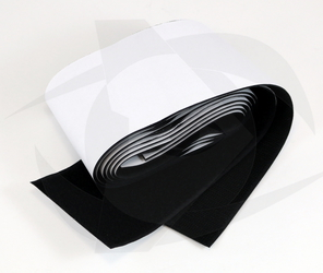 Hook & Loop Tape with Adhesive Backing - BLACK (75mm x 1m)