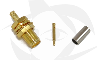RP-SMA Female Connector - Crimp Style (Straight)