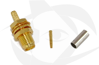 SMA Female Connector - Crimp Style (Straight)