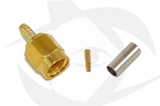 RP-SMA Male Connector - Crimp Style (Straight)