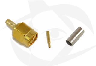 SMA Male Connector - Crimp Style (Straight)