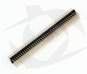 Pin Headers - 3 Rows, Right Angle (40 Pins, 2.54 spacing)