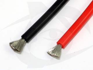 Premium Silicone Wire - 10ga Red 1m