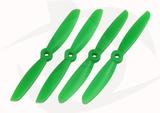 Gemfan 2 Blade Propeller - 5 x 4.5 (4PCS CW & CCW) GREEN
