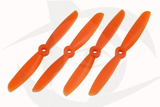Gemfan 2 Blade Propeller - 5 x 4.5 (4PCS, CW & CCW) ORANGE