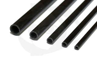 Carbon Fiber Tube: 6mm x 4.5mm, 1m Long