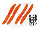 Gemfan 2 Blade Propeller - 5 x 4 (4PCS, CW & CCW) ORANGE