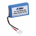 Battery - 180mAh 2S 7.4V 20C LiPo, 26AWG EFLB1802S20