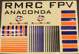 RMRC Anaconda - Snake Decal Kit - Orange/Blue