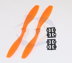 Slow Fly HQ Prop - Glass Fiber - 8x4.5R Orange