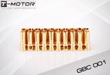 Tiger Motor Bullet Connectors - 24K 3.0MM (3 pairs)