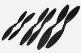 Gemfan ABS Propeller - 10 x 5 (2PCS, CW & CCW) BLACK
