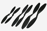 Gemfan ABS Propeller - 8 x 4.5 DJI (2PCS, CW & CCW) BLACK