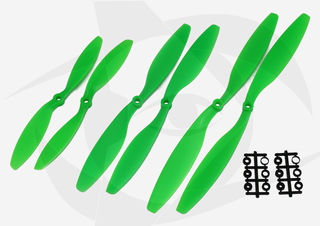 Gemfan ABS Propeller - 8 x 3.8 (2PCS, CW & CCW) GREEN